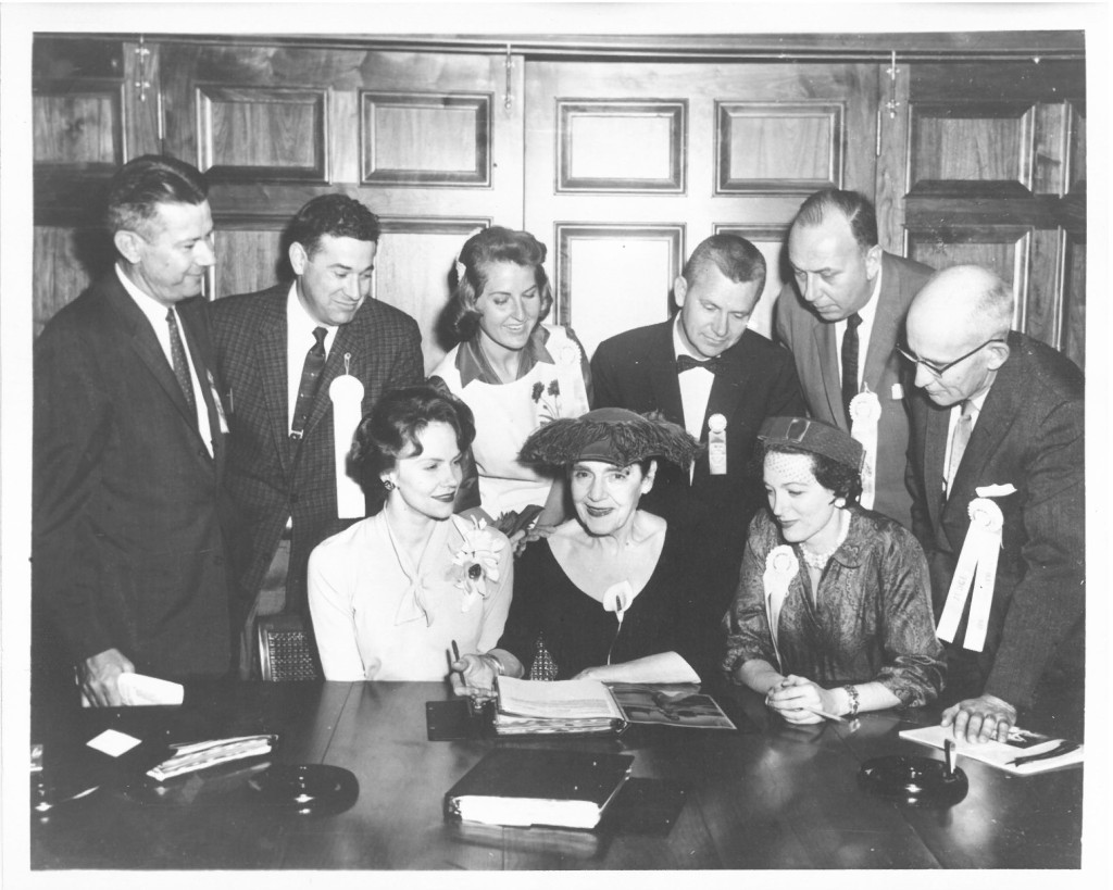 George Downing (third from right) and Fred Holder (far left) among founders of America's Junior Miss