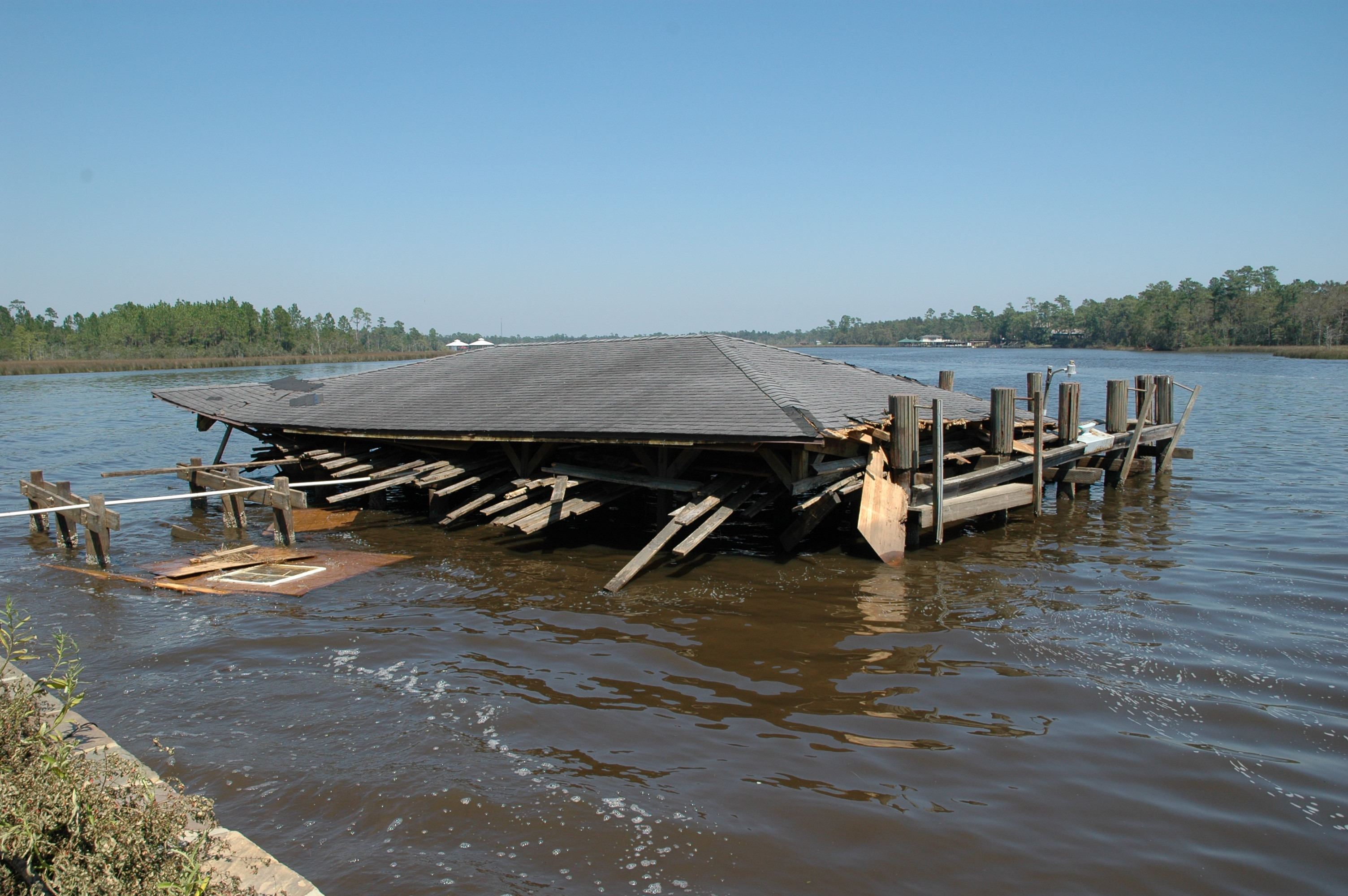 Wharf and Pavilion after Hurricane Ivan