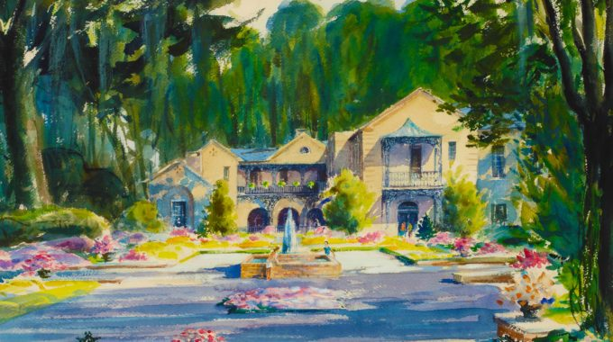 The Bellingrath Home, Painted By Richard Lewis