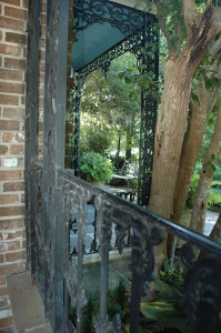Cast iron railings on the Bellingrath Home, salvaged from the Southern Hotel in downtown Mobile before it was demolished in 1934.