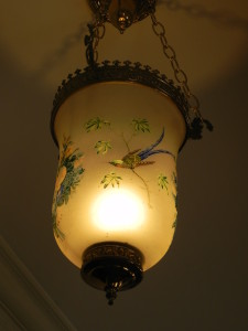 The glass light fixture that Miss Bessie purchased from Miss Berrey.