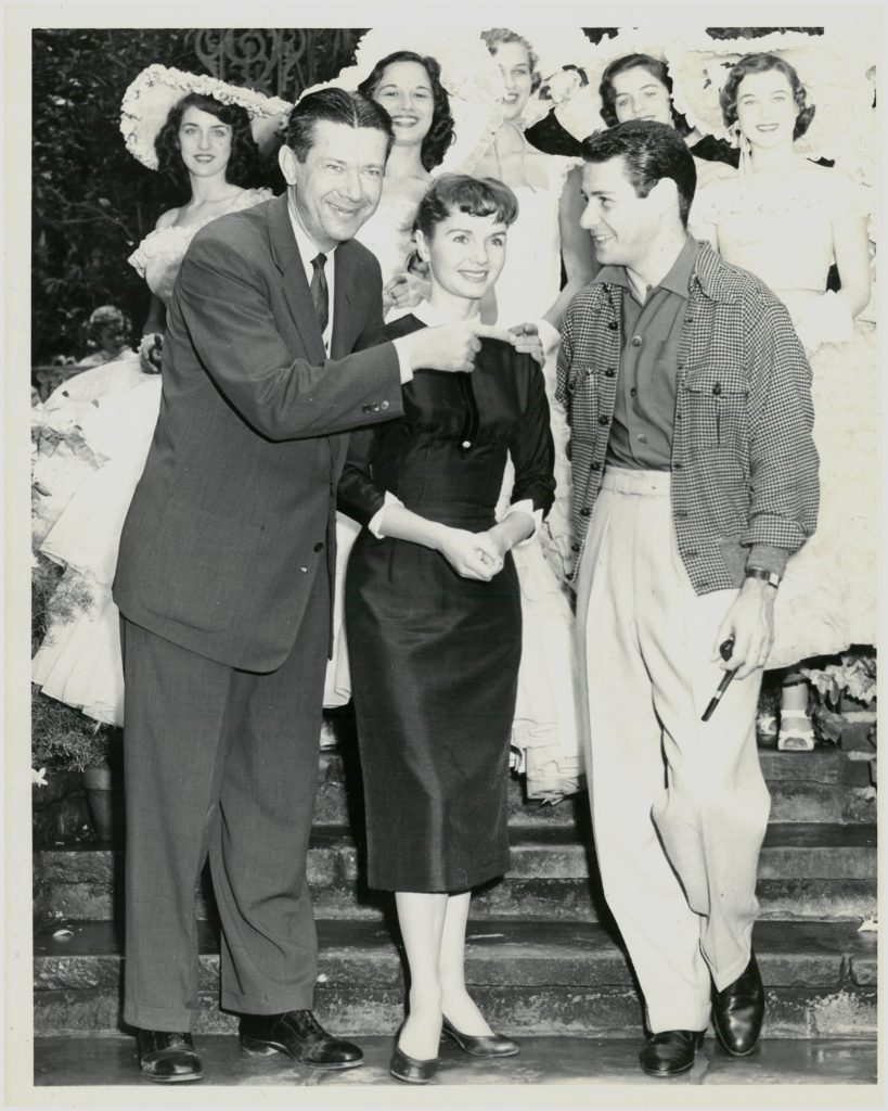 Fred Holder and the Azalea Trail Maids greeted Debbie Reynolds and Eddie Fisher in 1956 at Bellingrath Gardens and Home.