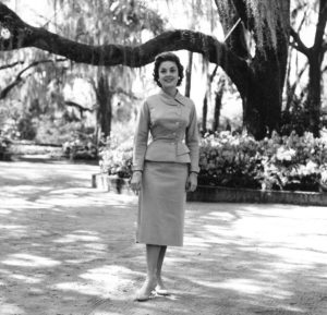 Marian Ann McKnight, Miss America 1957, opened the azalea season at Bellingrath that year.