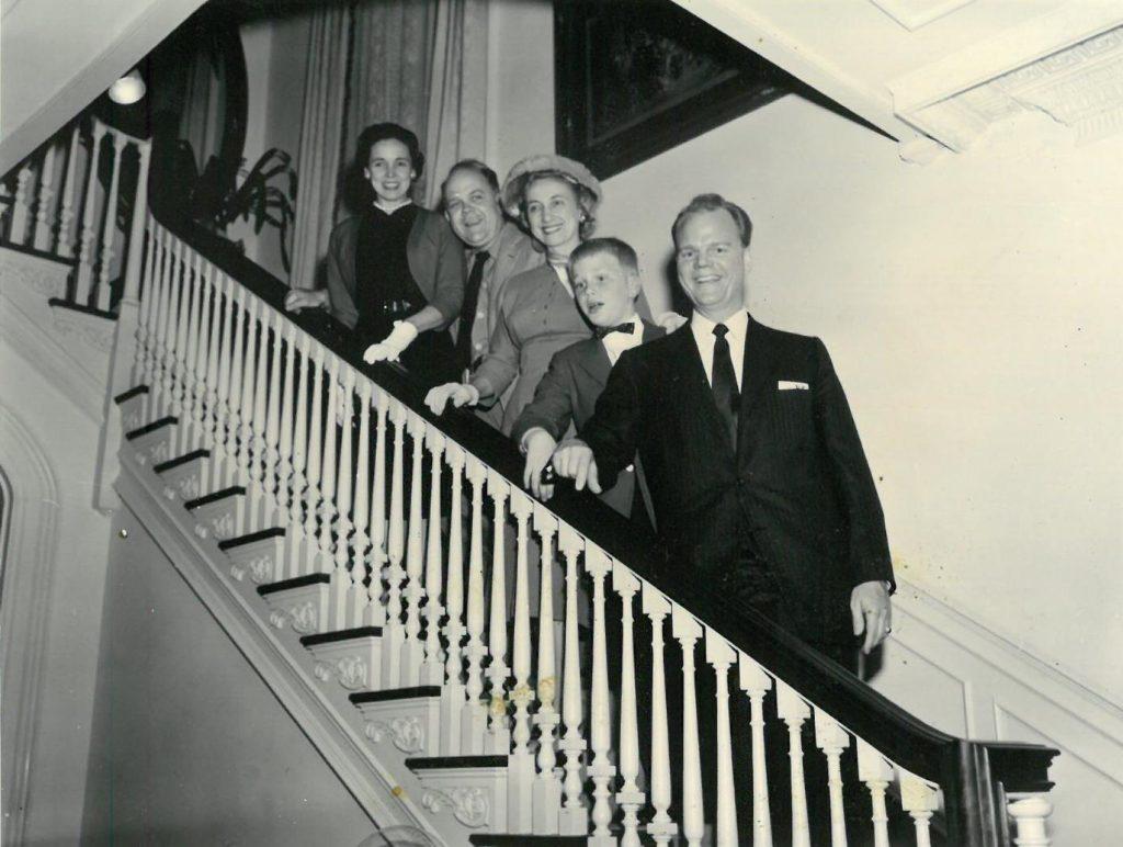Paul Harvey and family, 1957