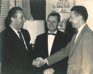 Walt Disney, left, visited in 1957. Here, he is shown with Bellingrath Executive Director George Downing, center, and trustee Fred Holder.