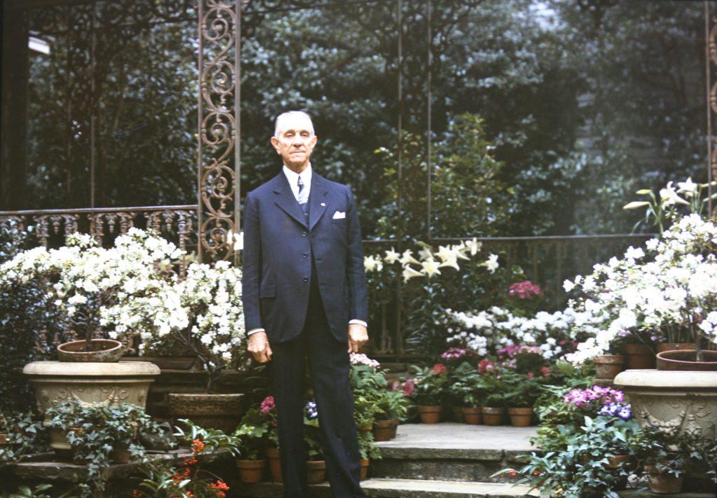 Walter Bellingrath in the Gardens, circa 1949-1950.
