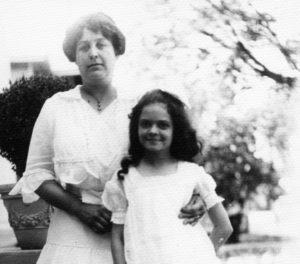 "Bessie Bellingrath with her niece, Alice Mabel Sackhoff, the daughter of Mrs. Bellingrath's sister, Alice Sackhoff. Her nickname was ""Doll."""