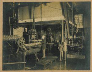 Interior of the Mobile Coca-Cola Bottling Co., circa 1902.