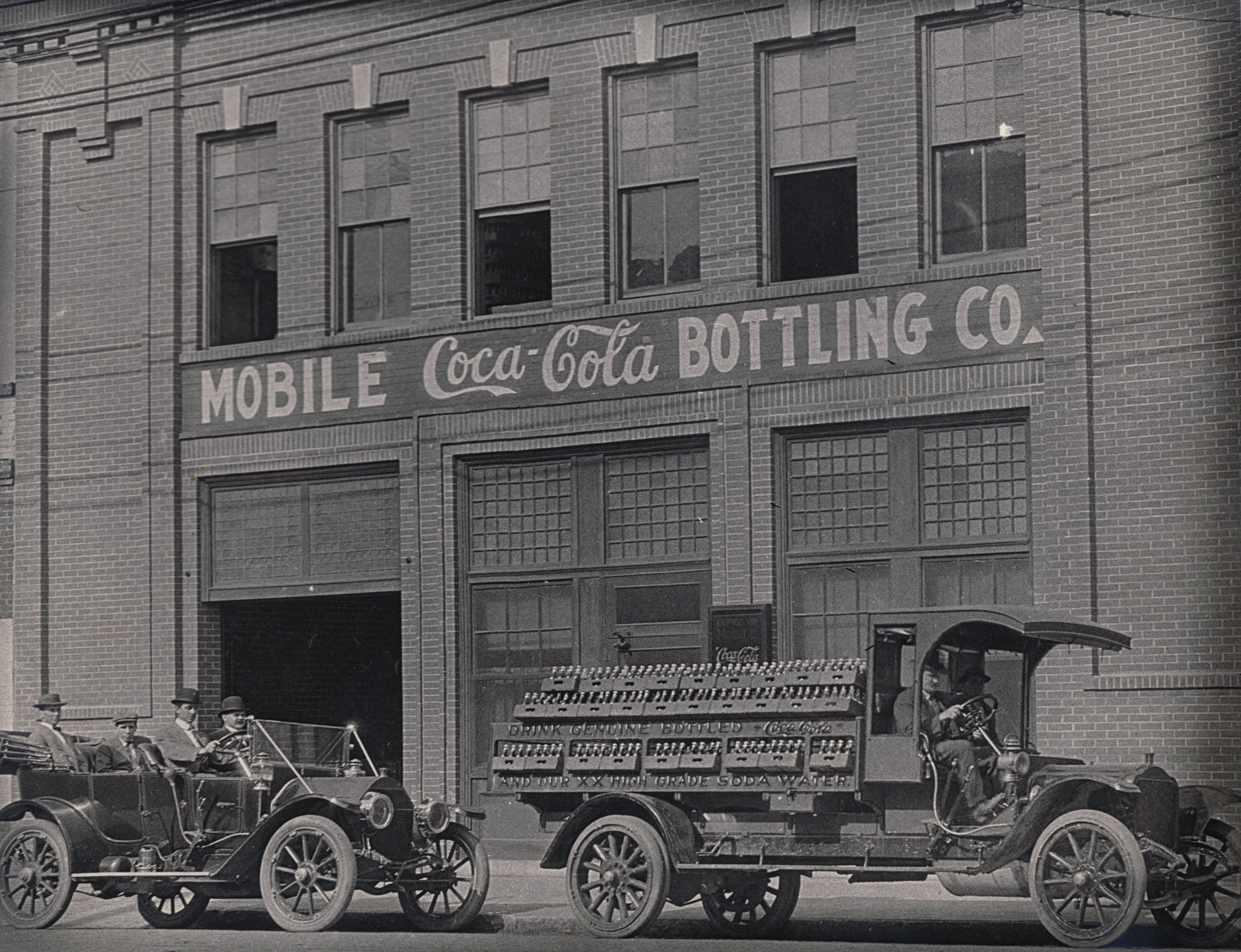 The Bellingrath Coca-Cola plant on Royal Street in downtown Mobile.