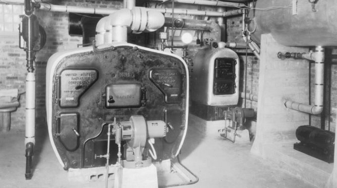 Basement View Of The Furnace In The Bellingrath Home, Circa 1936.