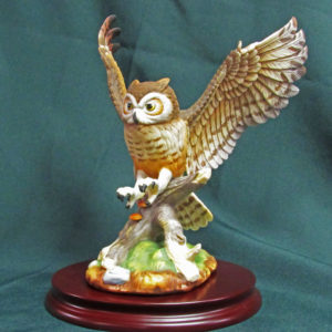Porcelain Great Horned Owl