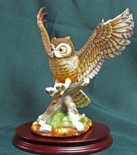 Porcelain Great Horned Owl